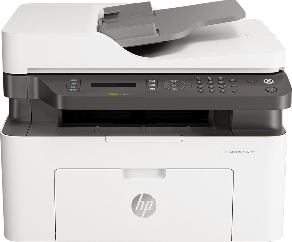 Máy in cũ Máy in đa năng HP Laser MFP 137fnw 4ZB84A